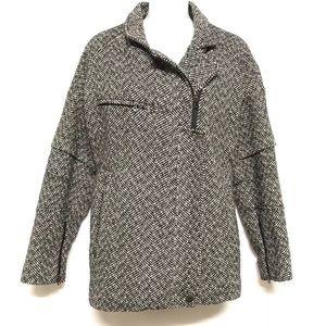 Victoria Secret Moto Coat Wool Blend asymmetrical